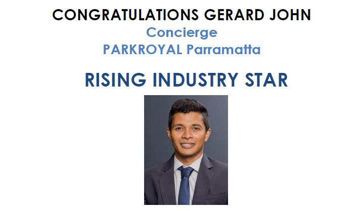 Winner of The Hotel School Rising Industry Star – GERARD JOHN