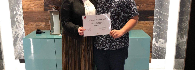 Thomas Magill: 2018 Sofitel Sydney Darling Harbour Ambassador